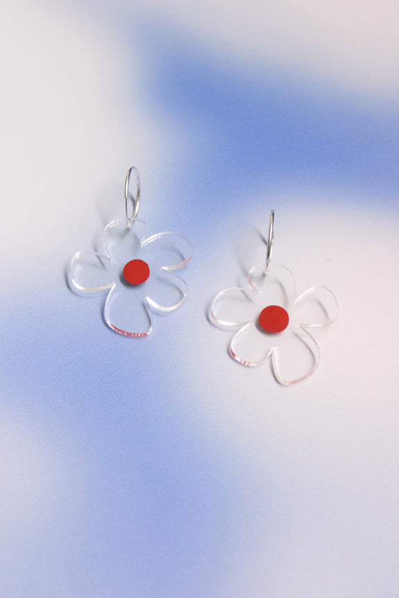 Dorkus Designs - Nectar Hoops Red