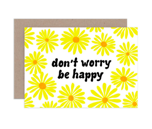 AHD greetings cards - Don't Worry Be Happy