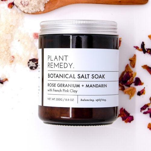 Plant Remedy - Bath Soak - Rose Geranium and Mandarin