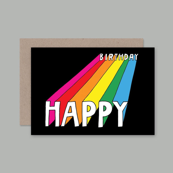 AHD greetings cards - Happy Birthday Rainbow