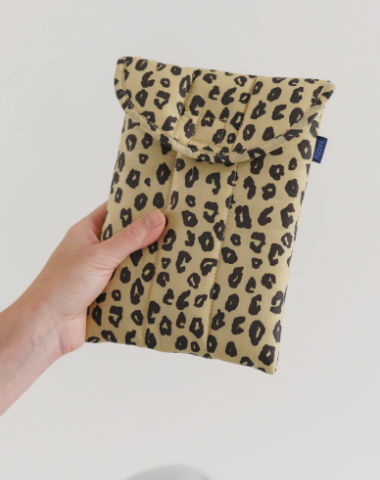 "Baggu - Puffy Tablet Sleeve 8"" - Honey Leopard"
