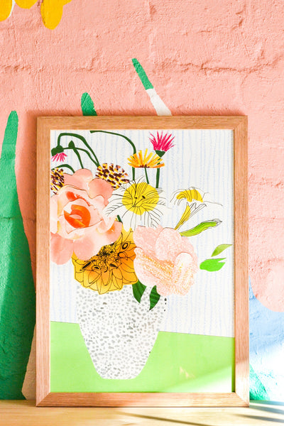 Emily Green  - Floral Bunch Collage 1 Giclee Print A4