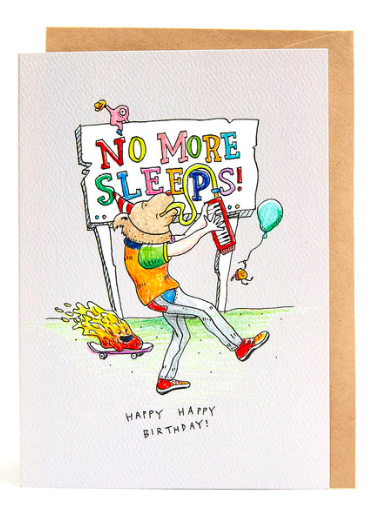 Wally Paper Co Cards - No More Sleeps