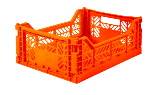 Ay -Kasa foldable crates - Midi - Orange