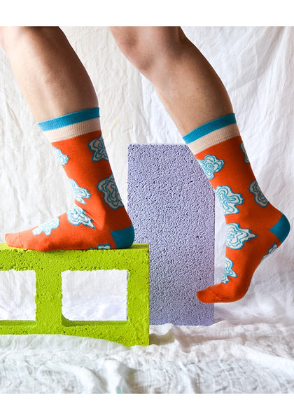 Emily Green - Wobbly Flowers Socks
