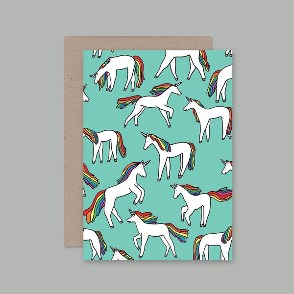 AHD greetings cards - Unicorn