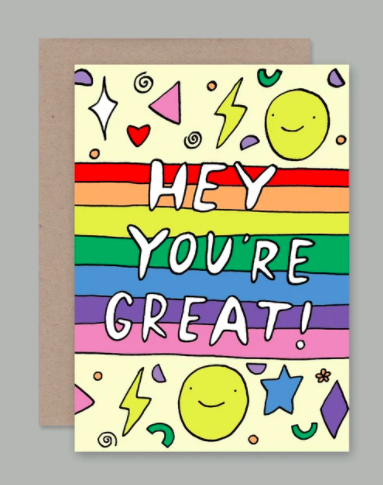 AHD greetings cards - Hey You're Great
