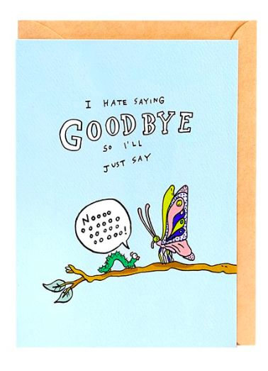Wally Paper Co Cards - Goodbye Butterfly