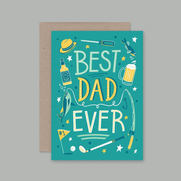 AHD greetings cards - Best Dad Ever