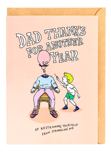 Wally Paper Co Cards - Restrained Dad