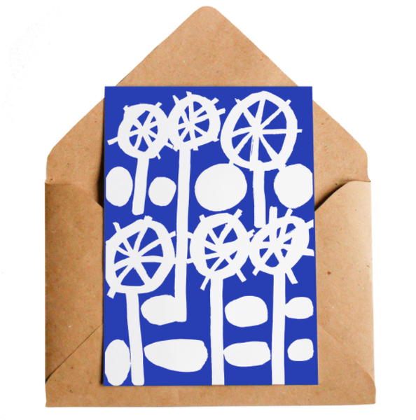 Lottie Hall Greetings card - Fiori Fantasma