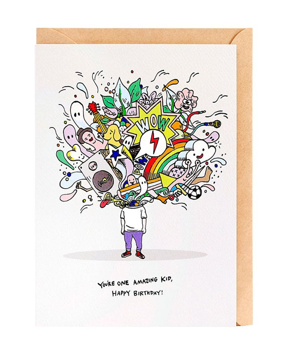 Wally Paper Co Cards - Amazing Kid