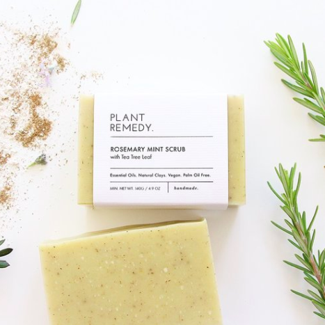 Plant remedy - Soap - Rosemary Mint Scrub with Clay and Tea Tree Leaf