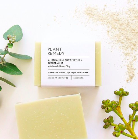 Plant Remedy - Soap - Australian Eucalyptus and Peppermint with French Green Clay