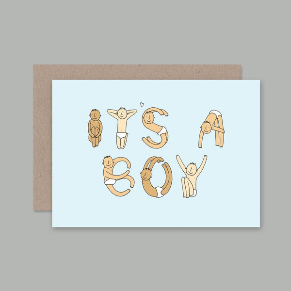 AHD greetings cards - Its a Boy