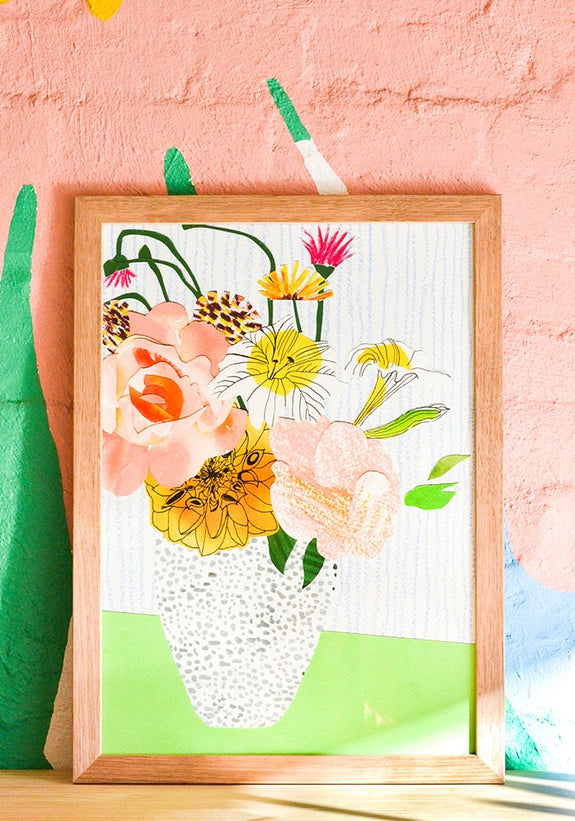 Emily Green - Floral Bunch 1 Collage Giclee Print A3