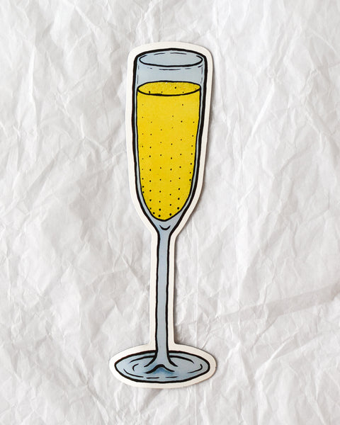 Billie Justice Thomson - Champagne Glass Magnet