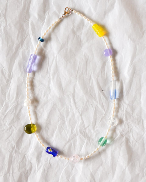Kate Dansey Glass and Pearl Necklace 2