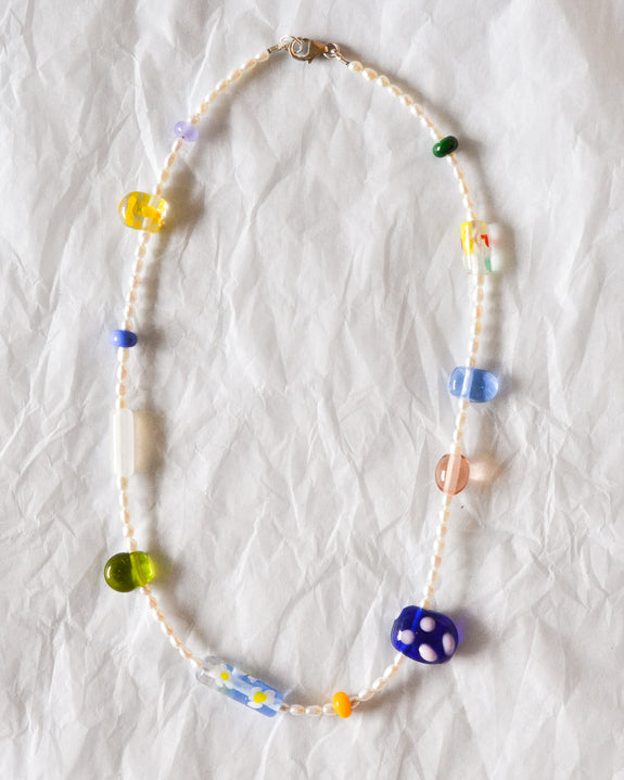 Kate Dansey Glass and Pearl Necklace 1