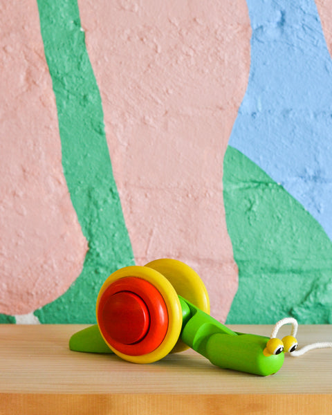PlanToys - Pull-Along Snail