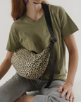 Baggu - Medium Nylon Crescent Bag - Leopard Honey