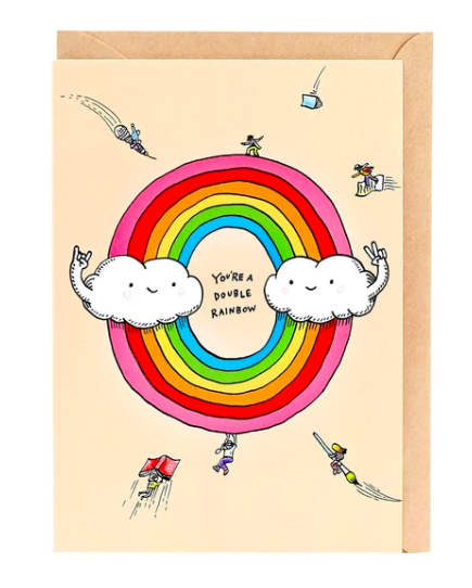 Wally Paper Co Cards - Double Rainbow