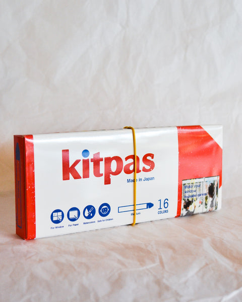 Kitpas Medium Stick Crayons - 16 colour Pack