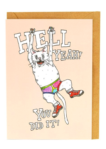 Wally Paper Co Cards - Hell Yeah Cat