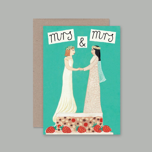AHD greetings cards - Mrs and Mrs