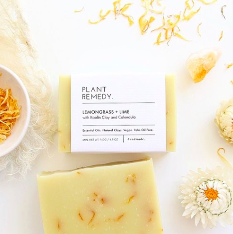 Plant remedy - Soap - Lemongrass and Lime with Kaolin and Calendula