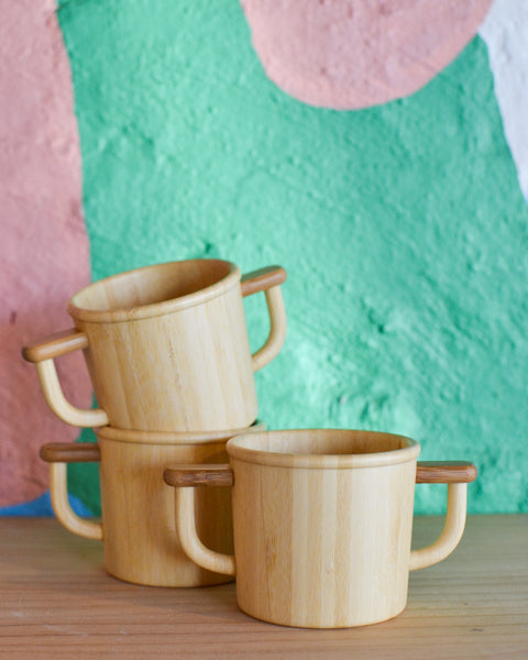 Bamboo 2 handle kids mug