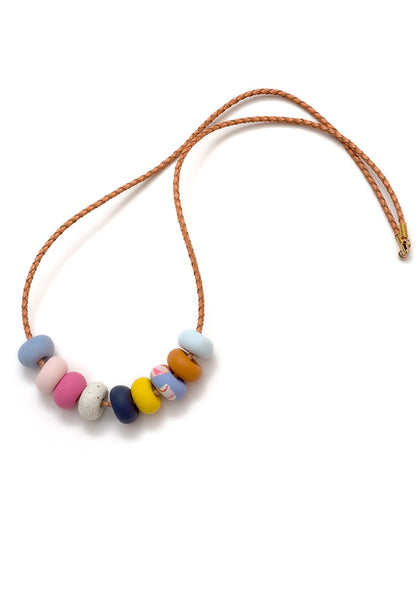 Emily Green - Wisteria Ink 9 Bead Necklace