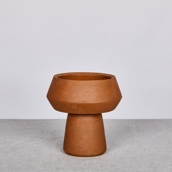 Bonnie and Neil - Terracotta Pedestal Vase - CLICK AND COLLECT ONLY