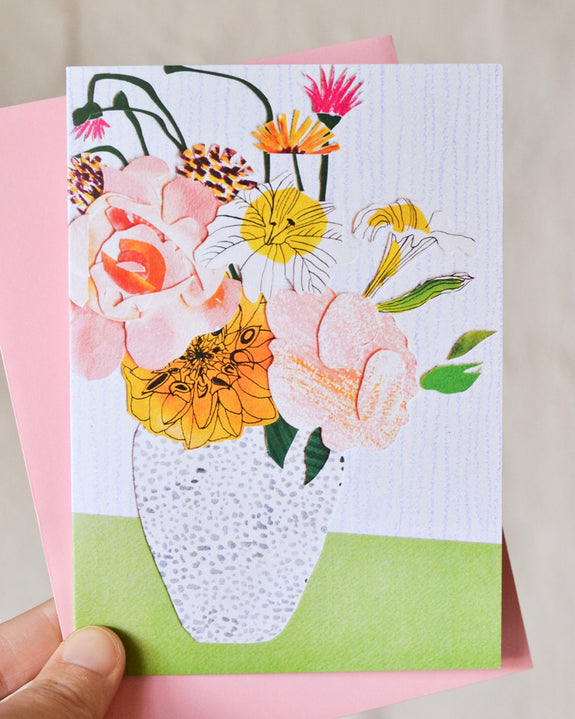 Emily Green  - Floral Bunch Collage 1 - Card