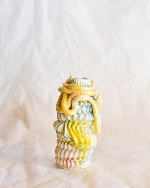Piped Dream Studio - Sorbet Budvase with loops and Twirls 4