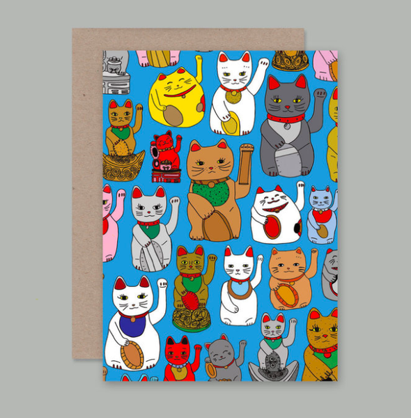 AHD Greetings Cards - Lucky Cats