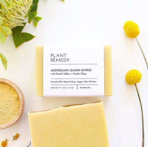 Plant remedy - Soap - Australian Lemon Myrtle with French Yellow + Kaolin Clays