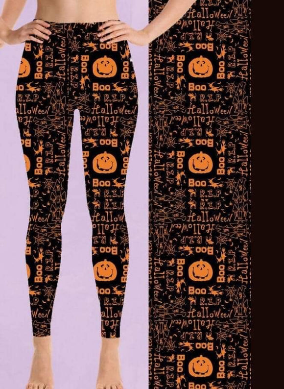 Pumpkin/Boo leggings - Alonna's Legging Land