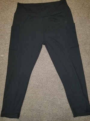 Custom black capris with thigh pockets