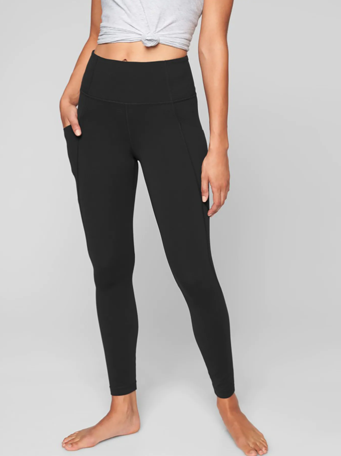 SOLID FULL BLACK Leggings  WITH POCKETS