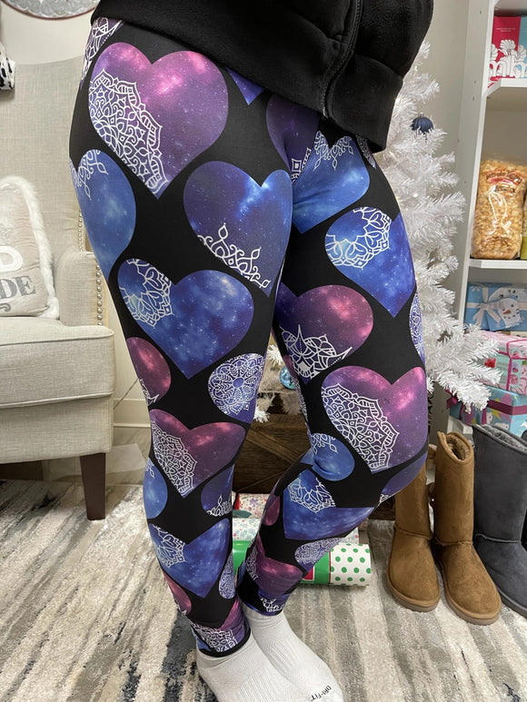 Henna heart leggings - Alonna's Legging Land