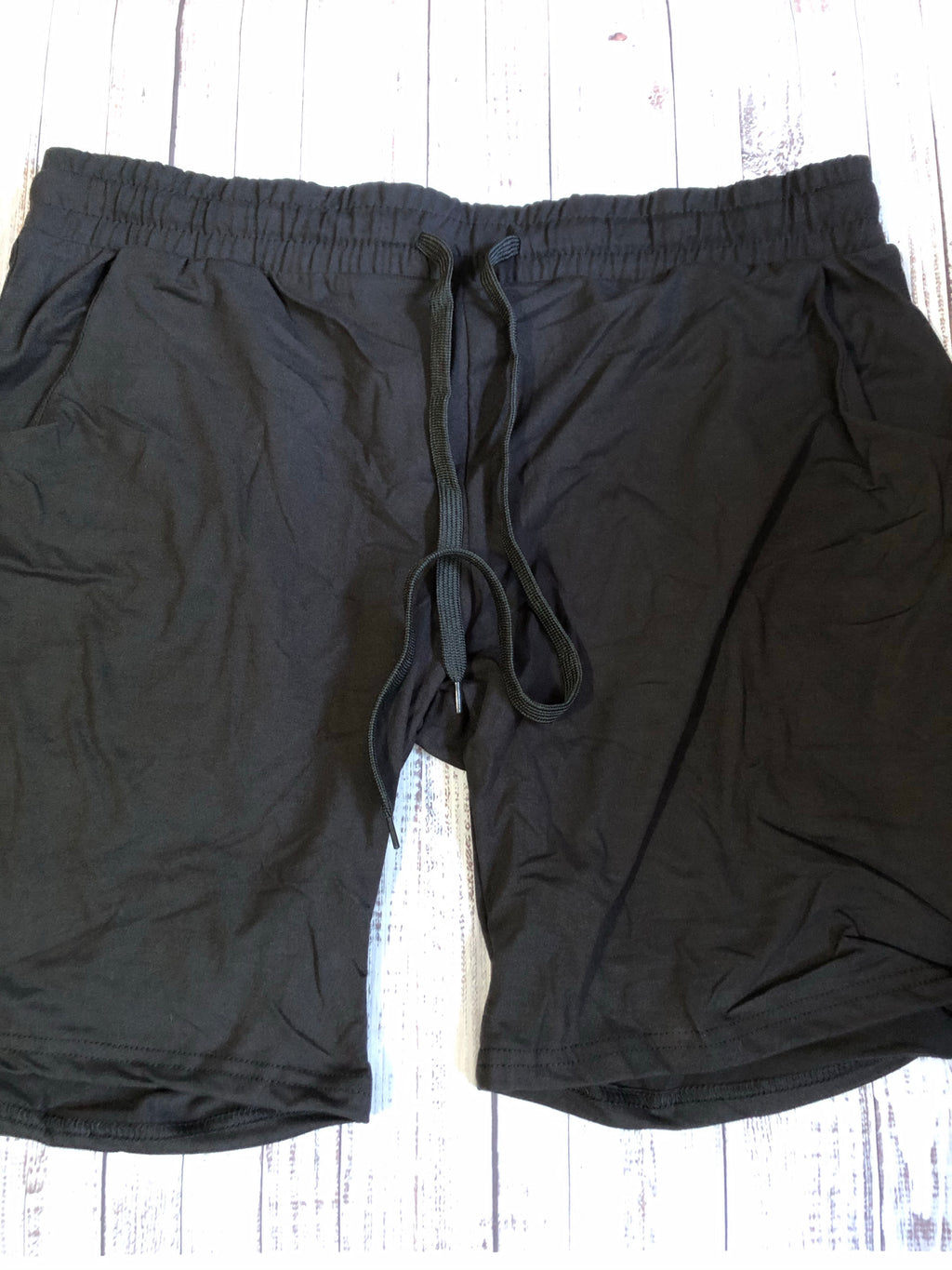 (Mis-sized- READ DESC)  Black jogger shorts