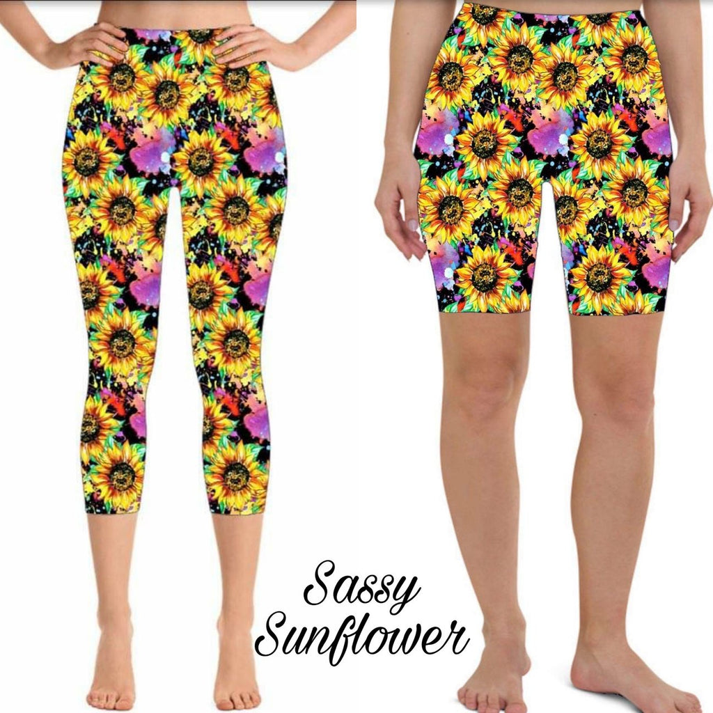 Sassy Sunflower - Capri and Shorts