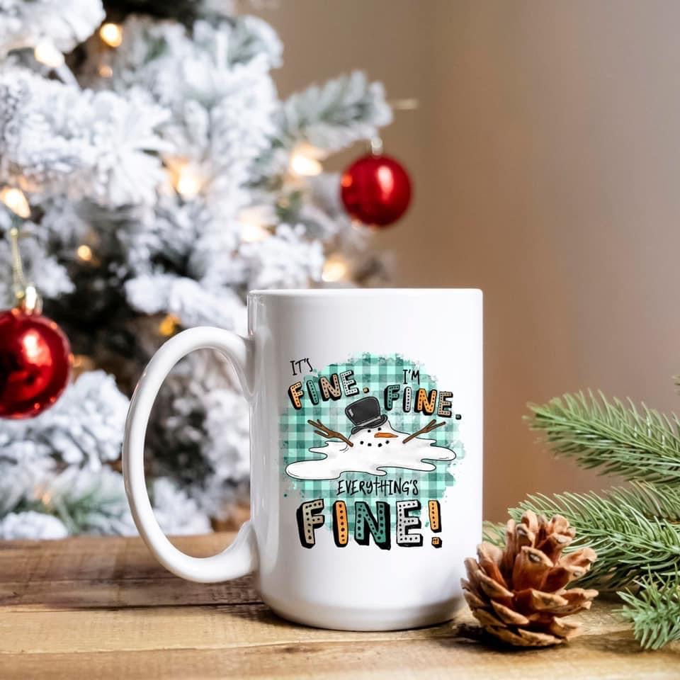 It's fine! Snowman - 15oz Ceramic Mug