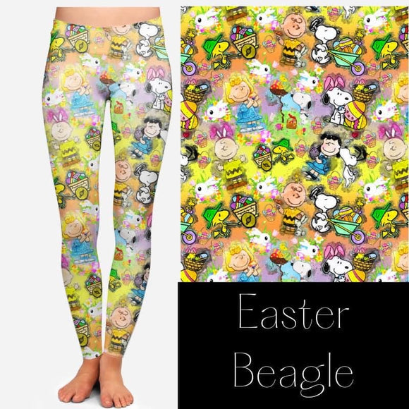snoopy Easter Leggings - Alonna's Legging Land