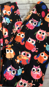 Easter owls leggings in stock