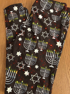 Hanukkah custom leggings in stock
