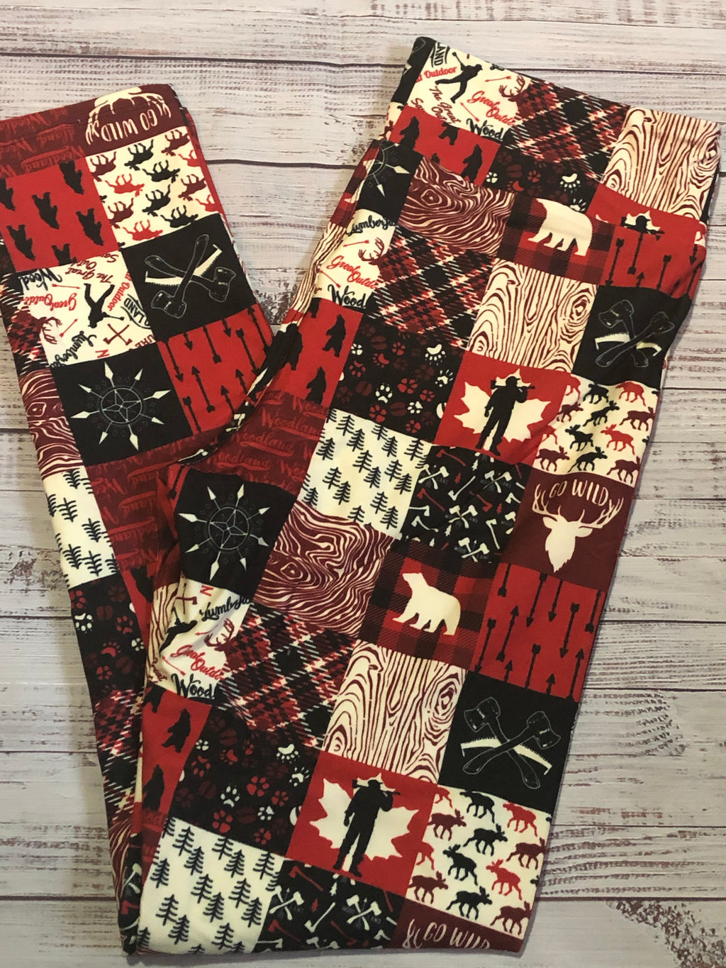 Lumberjack plaid -custom leggings