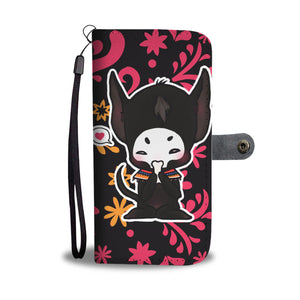 Chibi Xolotl inspired Mesoamerican Art Phone Case/Wallet