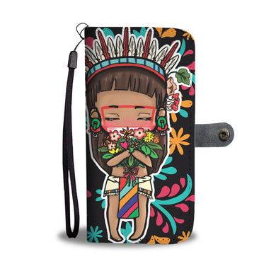 Chibi Xochipilli inspired Mesoamerican Art Phone Case/Wallet